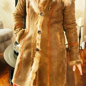 Blue Duck Jackets & Coats - Blue Duck lamb shearling with fox collar coat